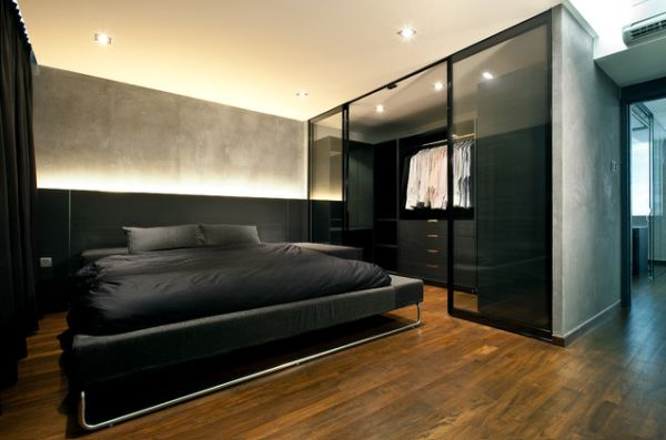 black-bachelor-pad-bedroom